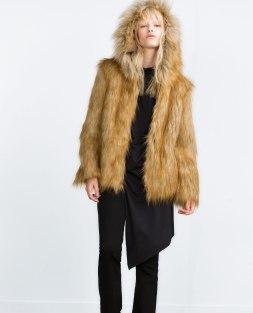 casaco pelo zara
