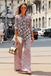 milao-fashion-week-street-style-viviana-volpicella-conjunto-pijama-calca-camisa-rosa